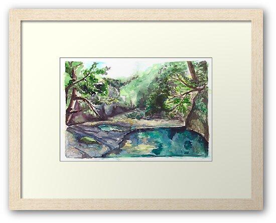 Mountain river by Yana Art