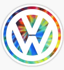 VW Logo Tie Dye Sticker