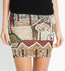 town mosaic Mini Skirt