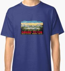 Grand Teton National Park Vintage Travel Decal 2 Classic T-Shirt