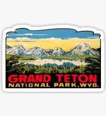Grand Teton National Park Vintage Travel Decal 2 Sticker