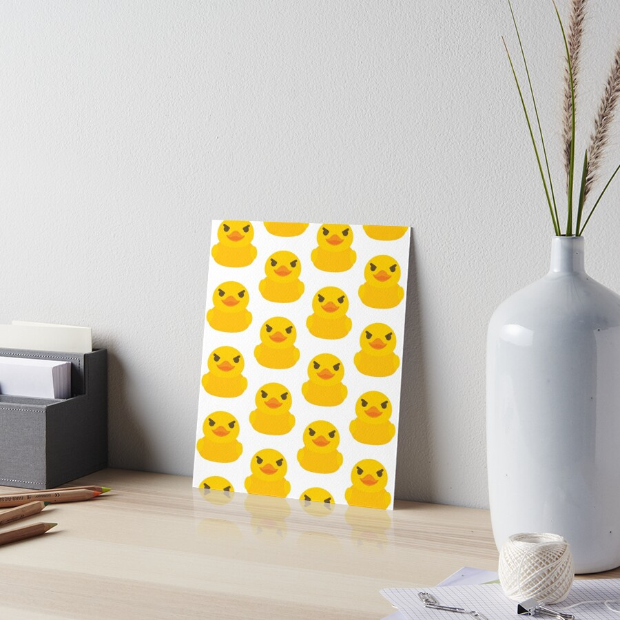 Emoji Rubber Duck Naughty Mischievous Look\