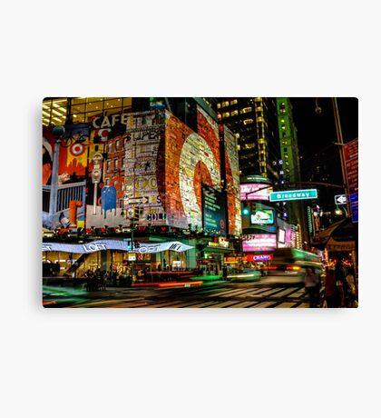Broadway Lights Canvas Print