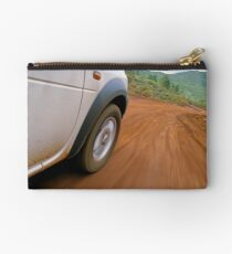New Caledonia, Grand Terre Island, car on road (blurred motion) Studio Pouch