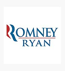 A Mitt Romney Photographic Print