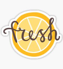 Fresh orange slice Sticker