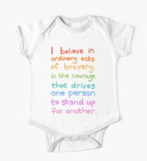 Ordinary Acts of Bravery - Divergent Quote  One Piece - Short Sleeve