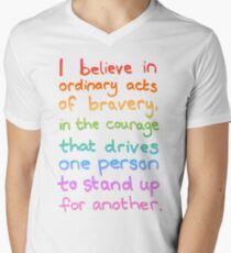 Ordinary Acts of Bravery - Divergent Quote  Men's V-Neck T-Shirt
