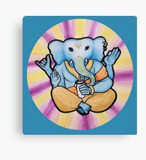 ganesh enjoys shakes Canvas Print
