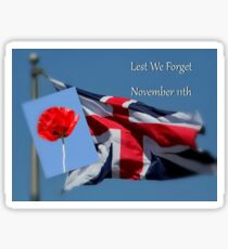 Lest We Forget - November 11th Sticker