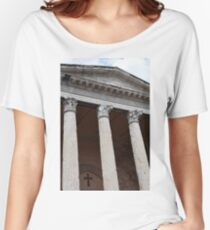 Classical temple with Corinthian columns Women's Relaxed Fit T-Shirt