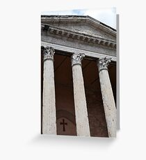 Classical temple with Corinthian columns Greeting Card