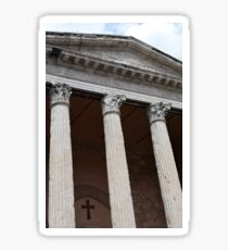 Classical temple with Corinthian columns Sticker