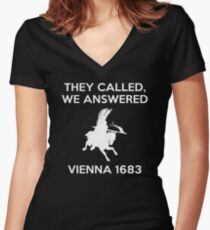 VIENNA 1683 Women's Fitted V-Neck T-Shirt