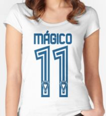 Mágico González - Dorsal 11 Women's Fitted Scoop T-Shirt