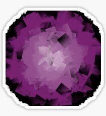 crumpled purple tissue Sticker