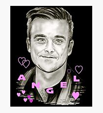 Angel-Heart in Black Photographic Print