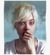 crying portrait Poster