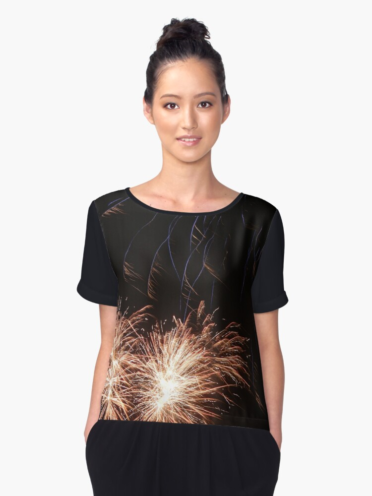Fireworks Women's Chiffon Top Front