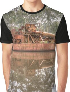 Rusting Dredging Boat on the Goldfields Graphic T-Shirt