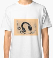 Watercolor of headphones. Music love Classic T-Shirt