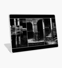 Roman Baths Triptych [black] Laptop Skin