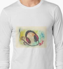 Watercolor of headphones. Music love T-Shirt
