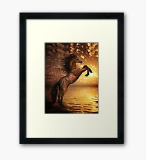 Freedom - Rearing Horse Artwork Framed Print