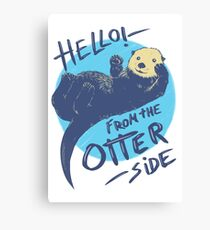 Otter Side Canvas Print