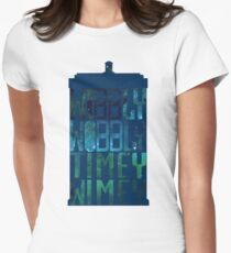 Wibbly Wobbly Timey Wimey Tardis - Doctor Who  Womens Fitted T-Shirt