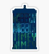 Wibbly Wobbly Timey Wimey Tardis - Doctor Who  Sticker