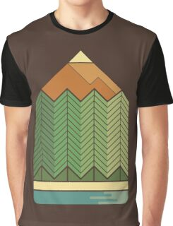 Drawing Mountains Graphic T-Shirt