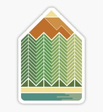 Drawing Mountains Sticker