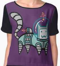 Astro Cat Women's Chiffon Top