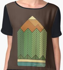 Drawing Mountains Women's Chiffon Top