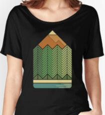 Drawing Mountains Women's Relaxed Fit T-Shirt