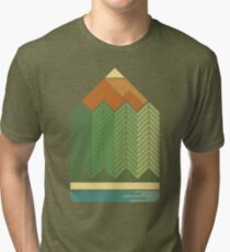 Drawing Mountains Tri-blend T-Shirt