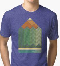 Drawing Mountains Tri-blend T-Shirt