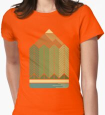 Drawing Mountains Womens Fitted T-Shirt