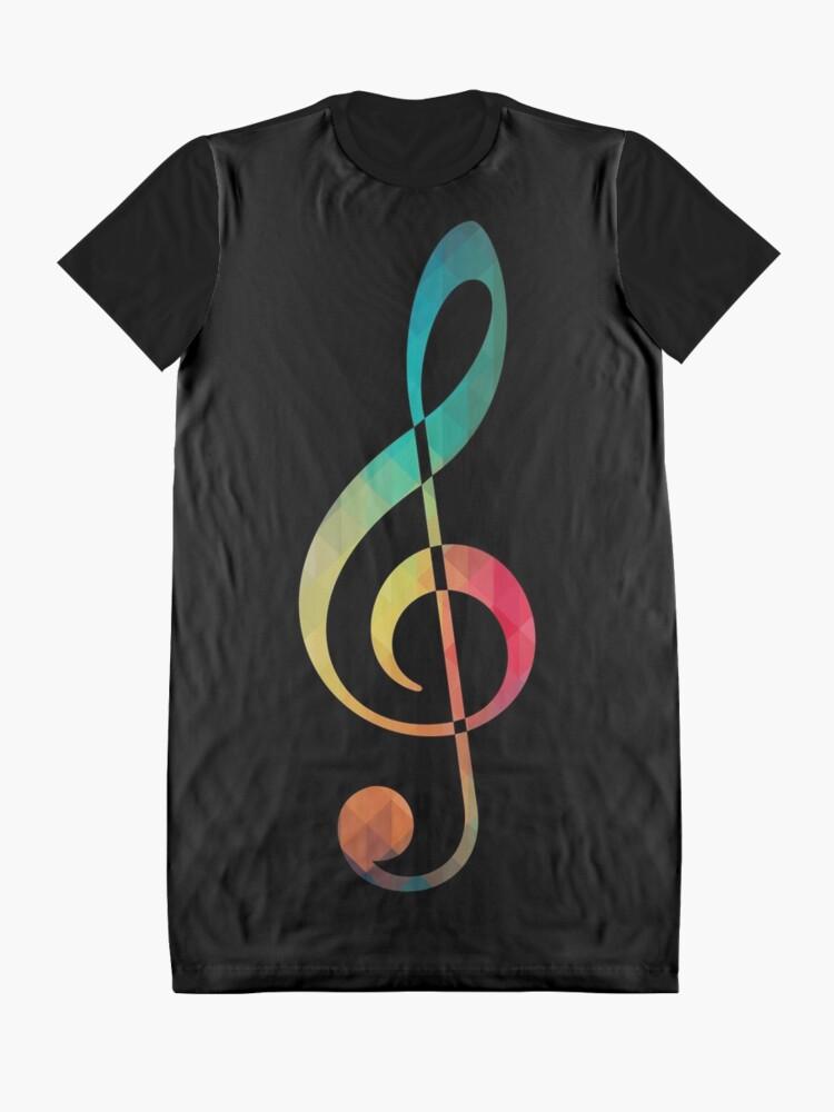 Alternative Ansicht von Regenbogenmuster Hinweis Sol-Silhouette T-Shirt Kleid