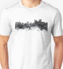 Busan skyline in black watercolor on white background T-Shirt