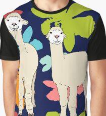 Happy Alpaca Twin Graphic T-Shirt