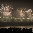 Forth Road Bridge Fireworks Celebration by Doug Cook