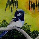Among the Gum trees (sold 12-9-2014) by sandysartstudio