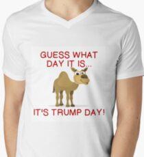 IT'S TRUMP DAY Men's V-Neck T-Shirt