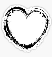 black heart graffiti style Sticker