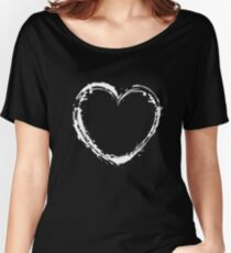 white heart Women's Relaxed Fit T-Shirt