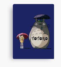 Totoro, Satsuki and Mei Canvas Print