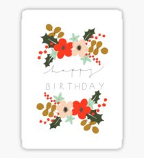 Floral Happy Birthday Sticker