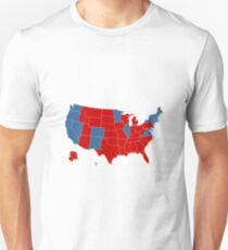 Donald Trump 45th US President - USA Map Election 2016 T-Shirt
